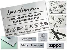 Custom laser engraved signs plaque. Brushed aluminum color plate Black letter mm