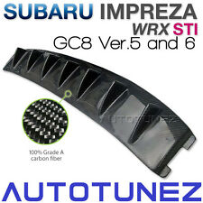 Carbon Fiber Vortex Generator For Subaru Impreza WRX STI GC8 Version 5 & 6 AT