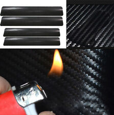 4 Pcs Universal Carbon Fiber Style Car Door Plate Anti Scratch Sticker Styling