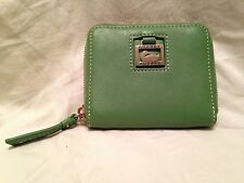 Women's Dooney &a Bourke Square Leather Wallet, Green, Small