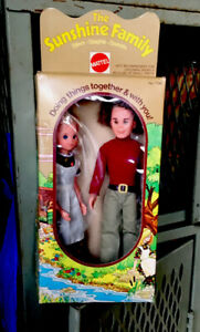 The Sunshine Family Steve And Stephie Dolls With  Box Mattel 1973