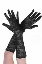 GIRLS LADIES WOMENS LONG LACE GLOVES 1950S MOULIN ROUGE BURLESQUE FANCY DRESS