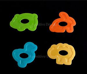 Tupperware Green Orange Blue Yellow Animal Baking Set Of 4 Cookie Cutter