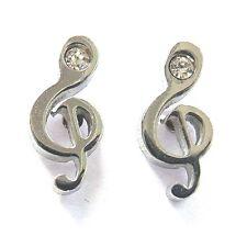 Notenschlüssel Ohrstecker Edelstahl Musik Violinschlüssel Ohrringe clef earrings