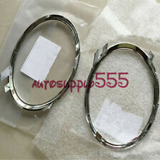 Front Bumper Fog Light Chrome Trims Covers Left and Right For Audi A5 S5 2008-12