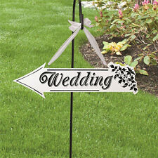 Arrow Sign Wedding Ceremony White Wooden Wedding Direction Reception Decoration