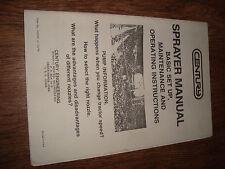 Century Sprayer Manual Form No. 614256 10/78 Operating Instructions