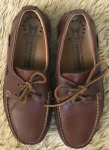 Mephisto Men's Spinnaker Hurrikan Boat Shoes 8.5 Brown Leather Comfort Lace Tie
