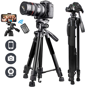 DSLR Camera Tripod Stand Holder Mount, Phone Tripod with Bluetooth Remote