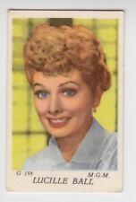 1950'S DUTCH GUM LUCILLE BALL MGM MOVIE STAR CARD SERIES G #188 EXCELLENT RARE!