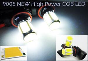 2x High Power COB LED 9005 For 16-18 FIAT 124 SPIDER DRL Daytime Running Light