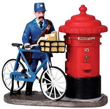 Lemax Decoración The Postman, De Pasteles Navideños Figura, bicicleta, Buzón