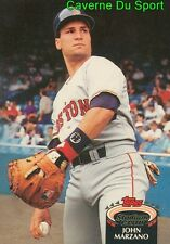 424  JOHN MARZANO  BOSTON RED SOX TOPPS BASEBALL CARD STADIUM CLUB 1992