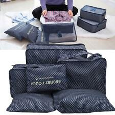 6pcs Travel Storage Bag Luggage Organizer Pouch Clothes Packing Cube Waterproof