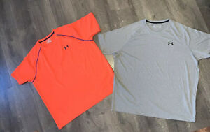 LOT OF 2 Men's UNDER ARMOUR Heat Gear LOOSE Athletic T Shirts XXLT