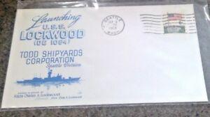 USS LOCKWOOD DE 1064 3 9/5/68 Canceled Ship Launching Todd Shipyards