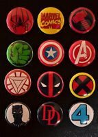 "Marvel Comics Characters - 1"" Pinback Buttons( >FREE Shipping<)"