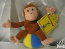 Curious George on Ball plush finger puppet; Applause NEW