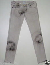 "BEAUTIFUL SASS&BIDE GREY TIE DYED TAPERED LEG DENIM JEANS 32 ""STRAYED MISFIT"""