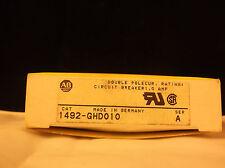 ALLEN BRADLEY CIRCUIT BREAKER MINI 1AMP 250V HIGH DENSITY 1492-GHD-010