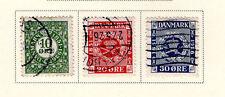 Denmark - Full 1926 Postage stamp 75th Anniv set. Scott #178-180 Used