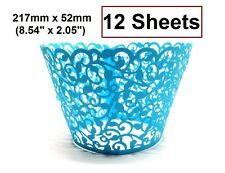 """12 Cupcake Wrappers Liners -Pick your color - 217mm x 52mm (8.54"""")"""