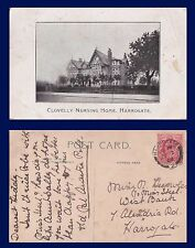 UK YORKSHIRE CLOVELLY NURSING HOME HARROGATE POSTALLY USED IN 1908