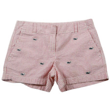 Vinyard Vines Pink White Striped Blue Whale Print Shorts Girls Size 14