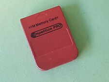 Metallic Red Compeition Pro 1Mb Memory Card For Sony Playstation 1 PS1