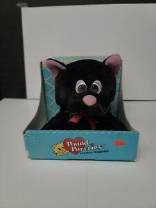 Vintage Pound Purries Furries Vintage 1986 Tonka Kitten Cat Stuffed Toy Black
