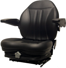 Zero Turn Turf Lawn Mower Seat w/ Armrests & Suspension John Deere Hustler Ect.