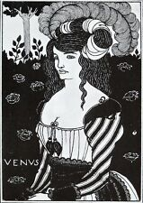 Aubrey Beardsly 1899 litho : title page for 'Venus'  decadent story by Beardsley