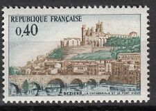 FRANCE TIMBRE NEUF N° 1567  ** CATHEDRALE SAINT NAZAIRE ET PONT VIEUX DE BEZIERS