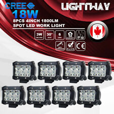 8X 4inch 18W CREE LED Work Light Bar Spot Beam Offroad 4WD SUV ATV Driving Lamp