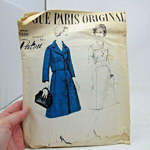 Vintage Pattern Vogue Paris Original # 1426 Patou SZ 14 Bust 34 Hip 36 *Read*