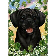 Clover Garden Flag - Black Puggle 312801