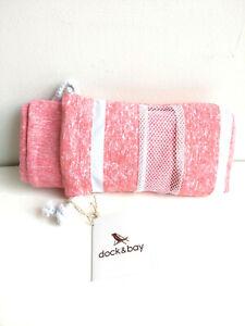 Dock & Bay Quick Dry Microfiber Towel Sml Red gym yoga beach NWT