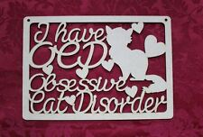 MDF Wooden Wooden Cat disorder laser cut door plaque decoration Craft wall do...