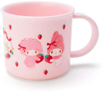 JAPAN SANRIO My Melody Pink Rabbit Strawberry Flower Home Kitchen Mug Cup 200mL