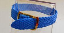 Bracelet Montre Watch Bands Nylon Tressé Style Nato 8 mm Bleu Ciel Longueur 22