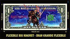 IRON MAIDEN USA IMAN BILLETE 1 DOLLAR BILL MAGNET