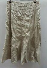 Cherokee Beige Skirt Long Full-length Panels A-line Size 12 <C2084