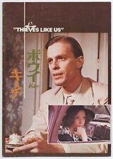 Thieves Like Us JAPAN PROGRAM Robert Altman, Keith Carradine, Shelley Duvall