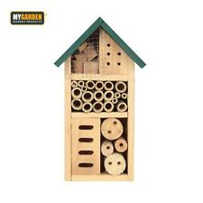 More details for wooden insect hotel garden bug house bee butterfly shelter