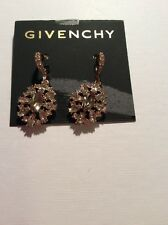 $52 Givenchy Gold Tone Chocolate Cluster Drop Earrings #660