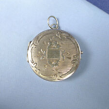 Victorian Sterling Silver Gilt Locket Pendant / Picture Reliquary