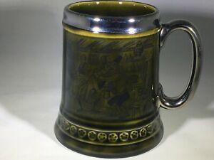 Coffee Mug Cup Princess House - Vintage Green Pub Scene - Made in England