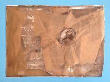 HANS JOACHIM BLOCK (1927) Rare Oeuvre de 1962 Signée Tapies 52X70 Abstrait 55ans