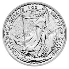 2016 Silver Britannia unc: 1 oz Troy ounce Fine Silver Coin Bullion