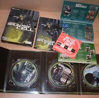 Tom Clancy's Splinter Cell (PC CD-ROM 2002) Big Box 3 Disc Version COMPLETE